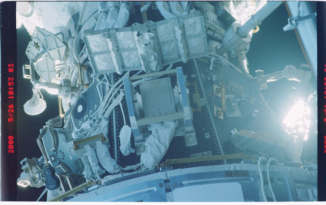 STS101-370-026 - STS-101 - View of the Node 1/Unity and PMA-1 modules