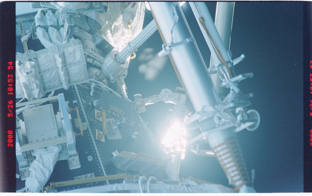 STS101-370-033 - STS-101 - View of the Node 1/Unity and PMA-1 modules