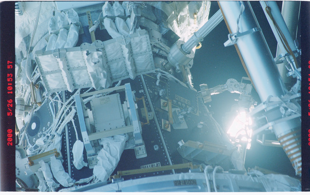 STS101-370-034 - STS-101 - View of the Node 1/Unity and PMA-1 modules