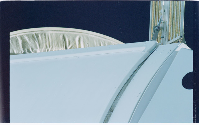 STS101-371-019 - STS-101 - View of external hardware on FGB/Zarya and PMA-1 modules