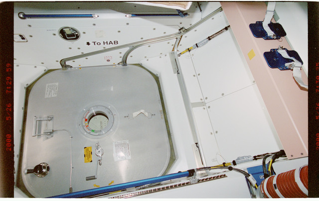 STS101-387-010 - STS-101 - Documentation of hatch hardware in the Node 1/Unity module