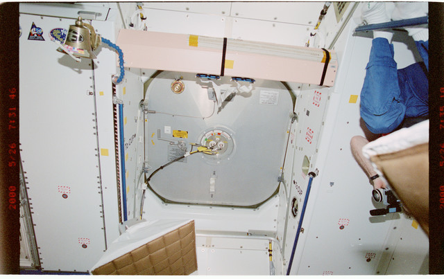 STS101-387-014 - STS-101 - Documentation of hatch hardware in the Node 1/Unity module