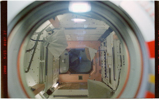 STS101-390-019 - STS-101 - Dark view of interior of Node 1/Unity module