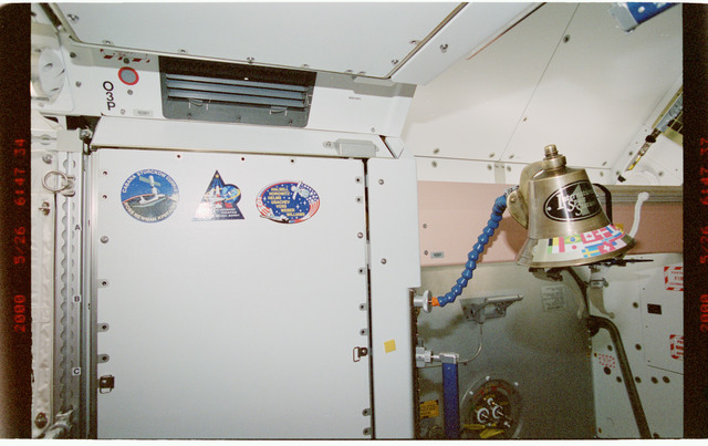 STS101-395-009 - STS-101 - Ships bell in the Node 1/Unity module