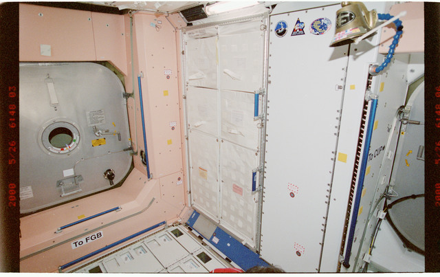 STS101-395-012 - STS-101 - View of hatch hardware in the Node 1/Unity module