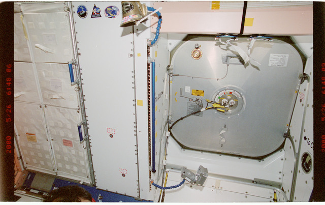 STS101-395-013 - STS-101 - View of hatch hardware in the Node 1/Unity module