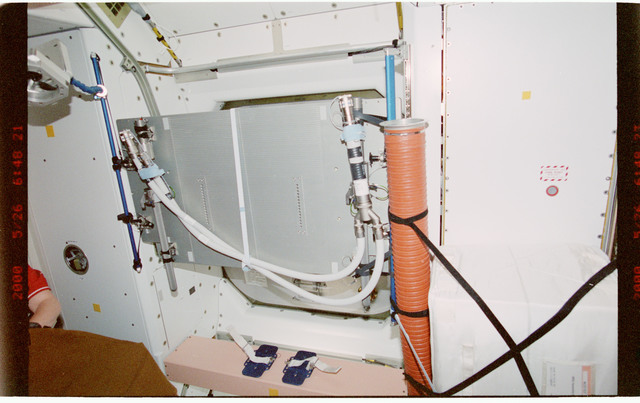 STS101-395-017 - STS-101 - Hatches and ventilation hardware in Node 1/Unity module