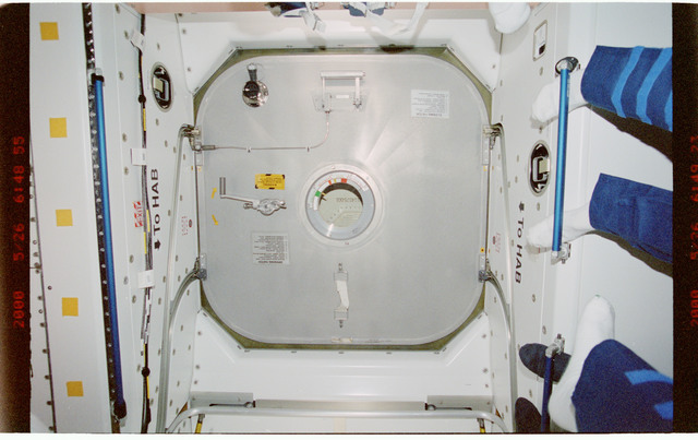 STS101-395-022 - STS-101 - Hatches and ventilation hardware in Node 1/Unity module
