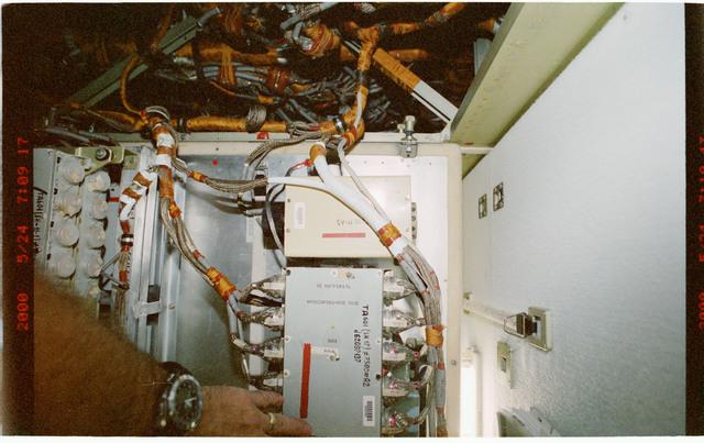 STS101-397-030 - STS-101 - Smoke detectors aboard FGB/Zarya module