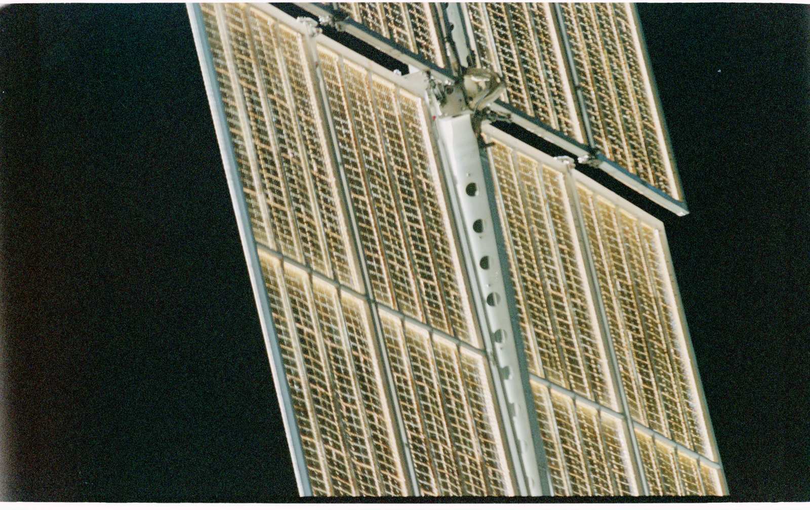 STS101-402-017 - STS-101 - View of FGB/Zarya solar arrays