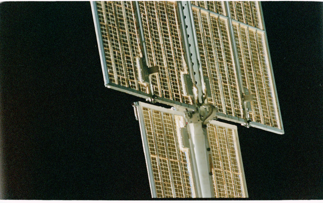 STS101-402-020 - STS-101 - View of FGB/Zarya solar arrays