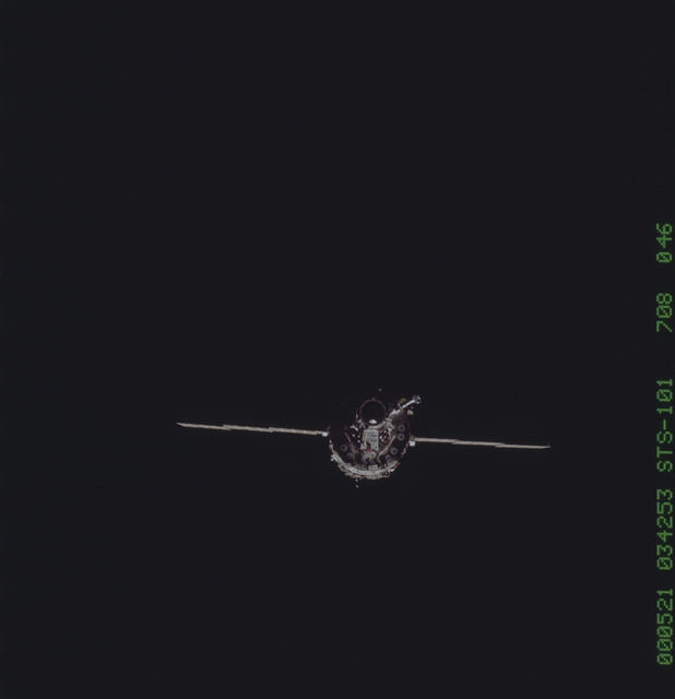STS101-708-046 - STS-101 - ISS views during approach for docking by STS-101 crew