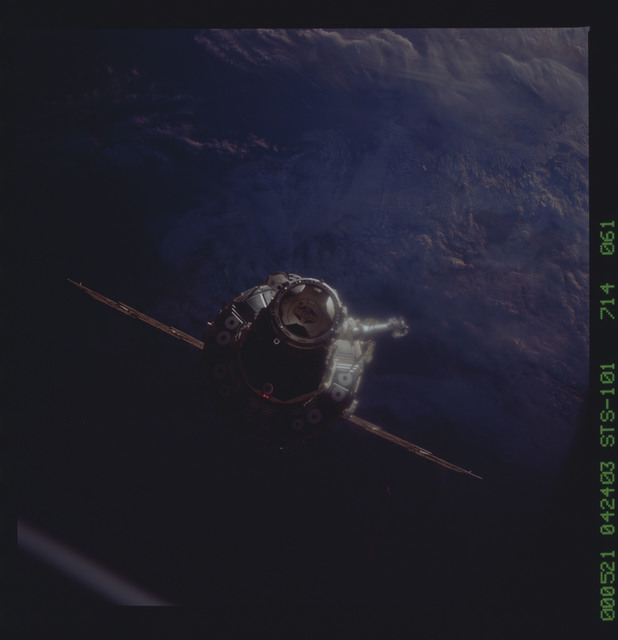STS101-714-061 - STS-101 - Documentation of the ISS during approach