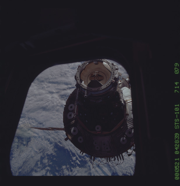 STS101-714-079 - STS-101 - Documentation of the ISS during approach