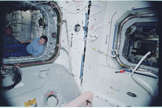 STS102-343-002 - STS-102 - Corner of Node 1 between U.S. Laboratory/Destiny and MPLM/Leonardo modules