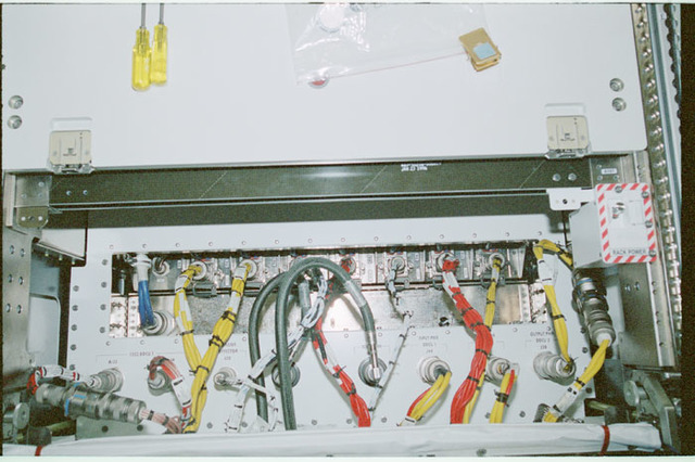 STS102-368-004 - STS-102 - Connector panels on U.S. Laboratory/Destiny racks