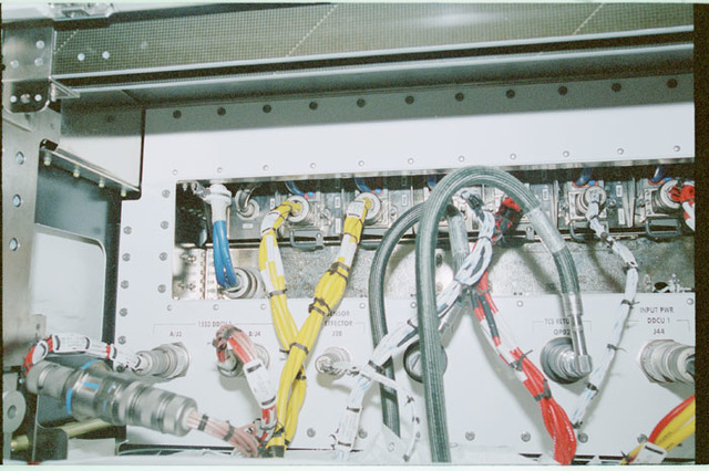 STS102-368-005 - STS-102 - Connector panels on U.S. Laboratory/Destiny racks