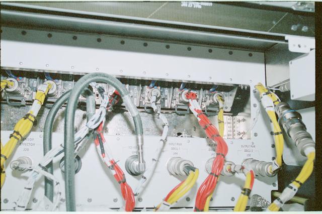 STS102-368-006 - STS-102 - Connector panels on U.S. Laboratory/Destiny racks