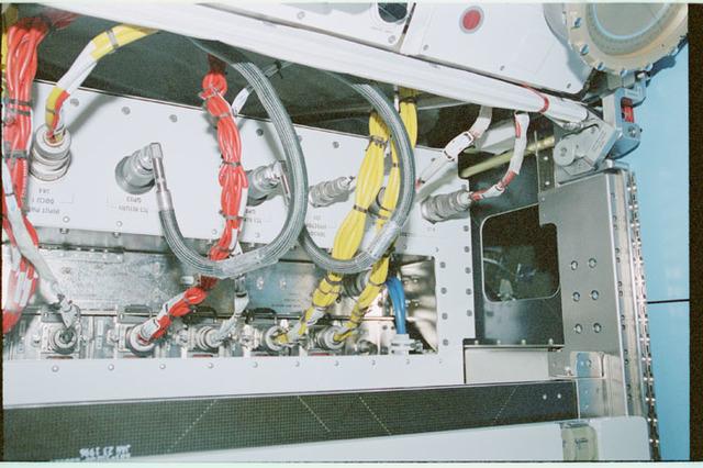 STS102-368-011 - STS-102 - Connector panels on U.S. Laboratory/Destiny racks