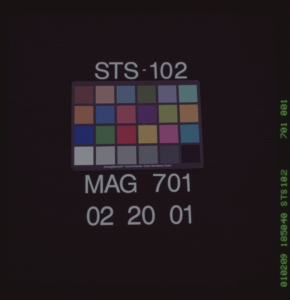STS102-701-001 - STS-102 - Title slate - mag 701