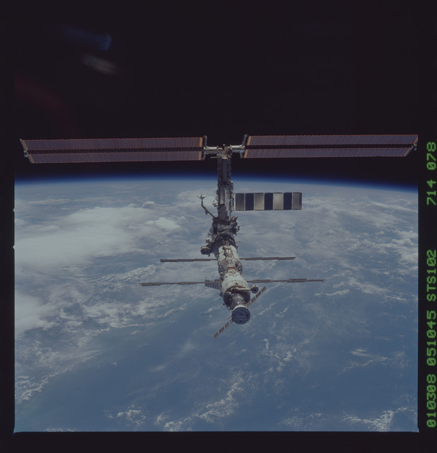 STS102-714-078 - STS-102 - Fly-around views of ISS