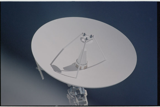 STS104-317-022 - STS-104 - SGANT antenna on the Z1 truss