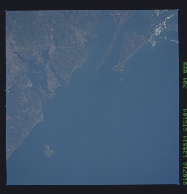 STS104-704-055 - STS-104 - Rhode Island, Providence, Martha's Vineyard taken by the STS-104 crew