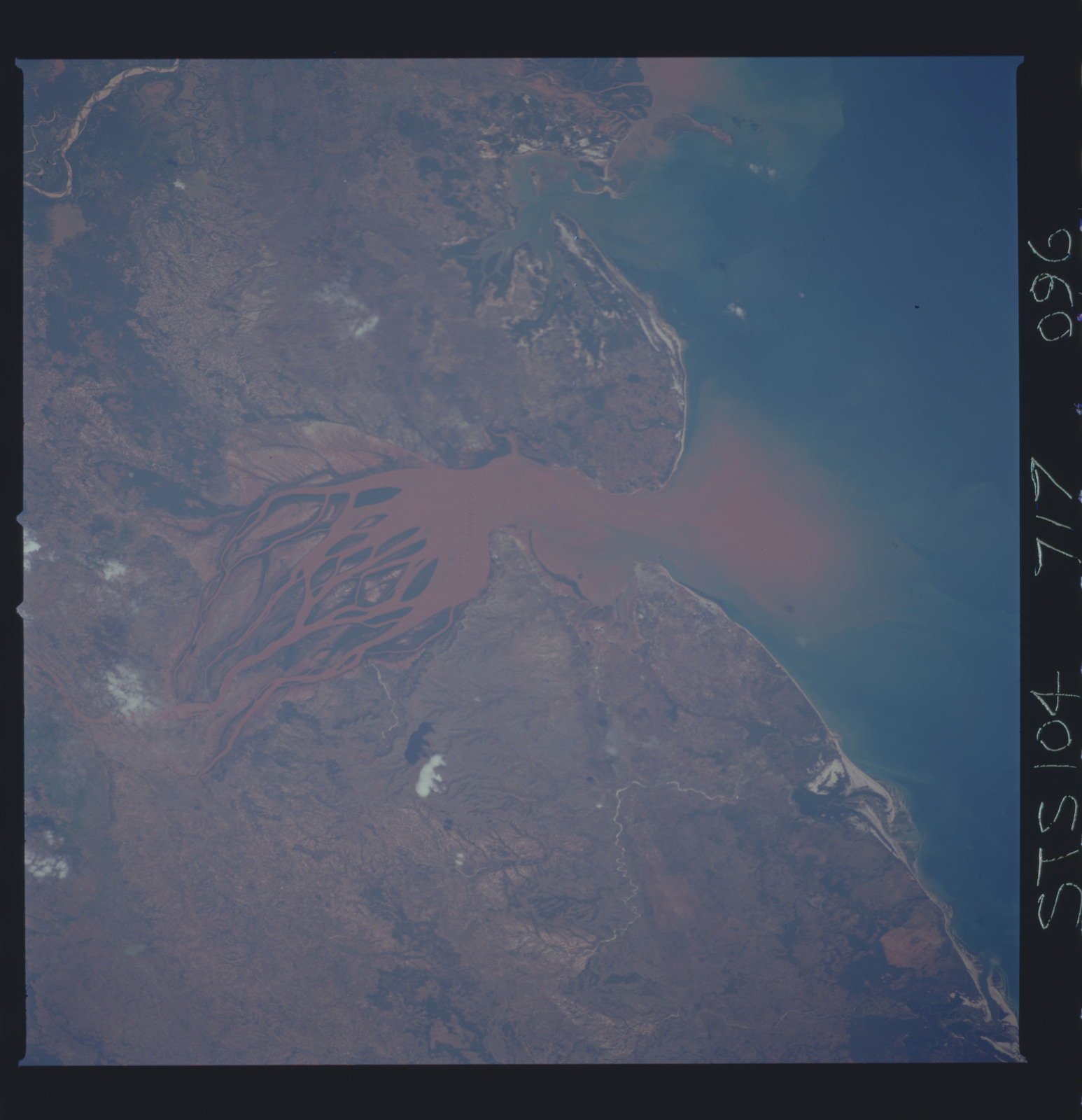 STS104-717-096 - STS-104 - View of Betsiboka River estuary, Madagascar taken by the STS-104 crew