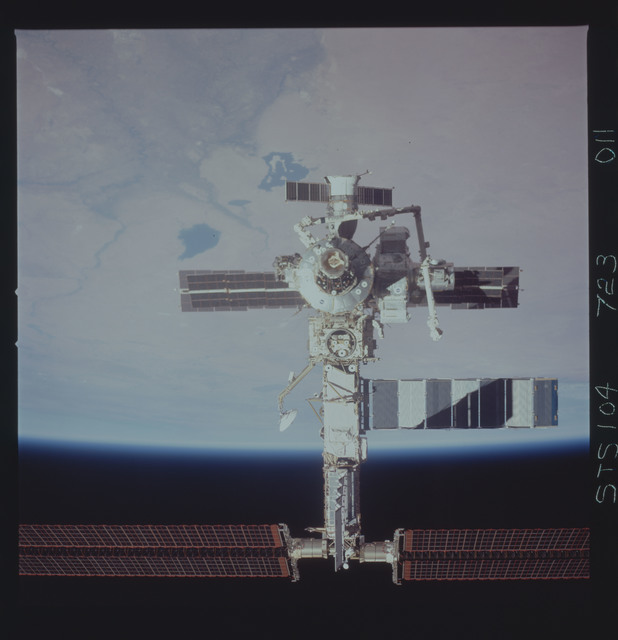 STS104-723-011 - STS-104 - Overall view of ISS taken during fly-around by STS-104 crew
