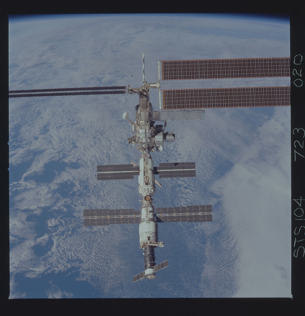 STS104-723-020 - STS-104 - Overall view of ISS taken during fly-around by STS-104 crew