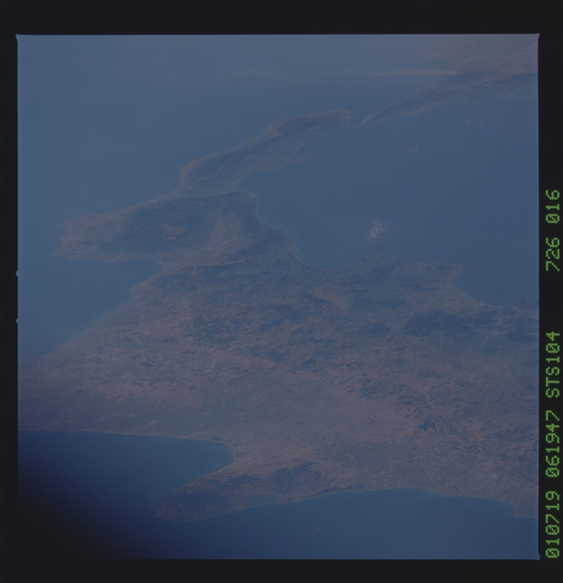 STS104-726-016 - STS-104 - Toe of the Boot of Italy, Salerno, Gargano Peninsula,
