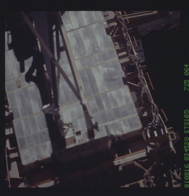 STS105-725-064 - STS-105 - Soft focus view of ISS P6 radiator