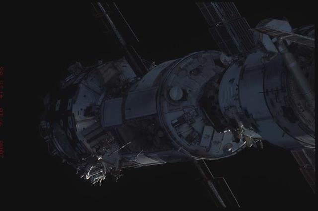 STS106-332-007 - STS-106 - Zenith side of Node 1,Zarya & Zvezda taken from Atlantis during STS-106