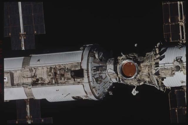 STS106-338-020 - STS-106 - Zenith side of Zarya & Zvezda taken from Atlantis during STS-106