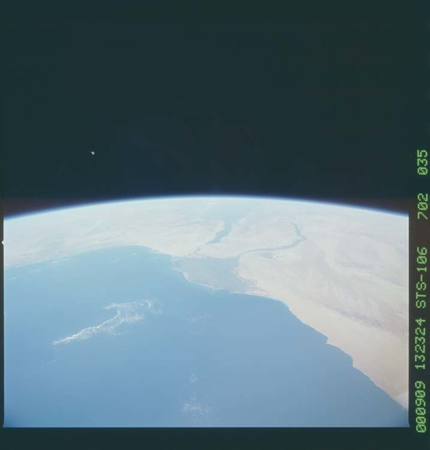 STS106-702-036 - STS-106 - Wide views of Egypt and Israel taken from Atlantis during STS-110