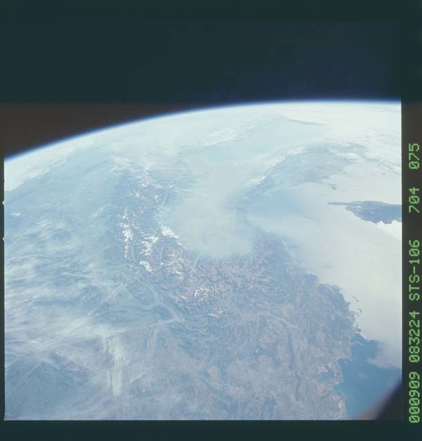 STS106-704-075 - STS-106 - France, North Italy and Switzerland taken from Atlantis during STS-106