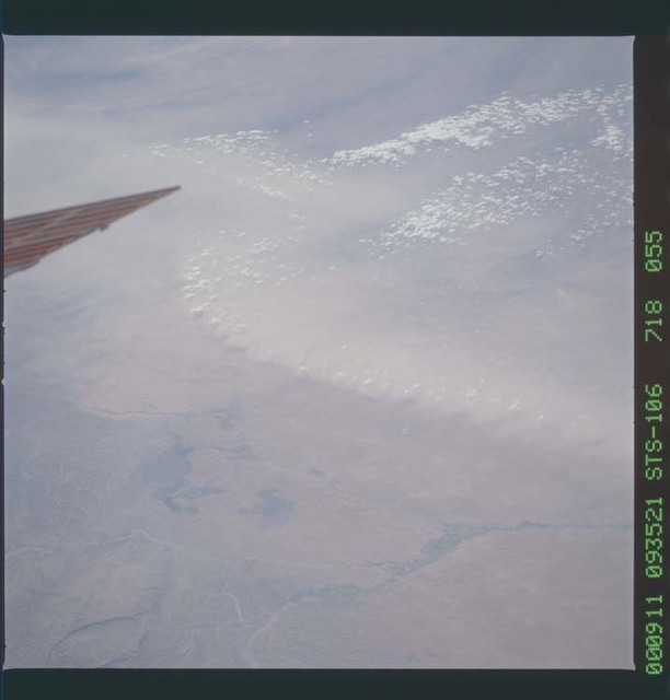 STS106-718-055 - STS-106 - View of a dust storm taken from Atlantis during STS-106