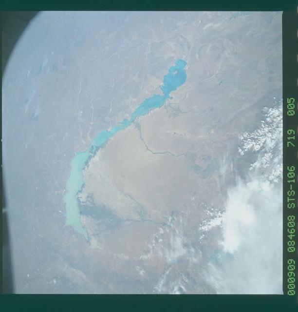 STS106-719-005 - STS-106 - ``Lake Balkhash, Kazakhstan taken from Atlantis during STS-106``
