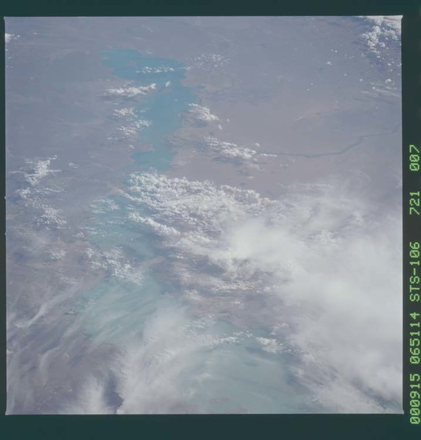 STS106-721-007 - STS-106 - Lake Balkhash, Kazakhstan taken from Atlantis during STS-106