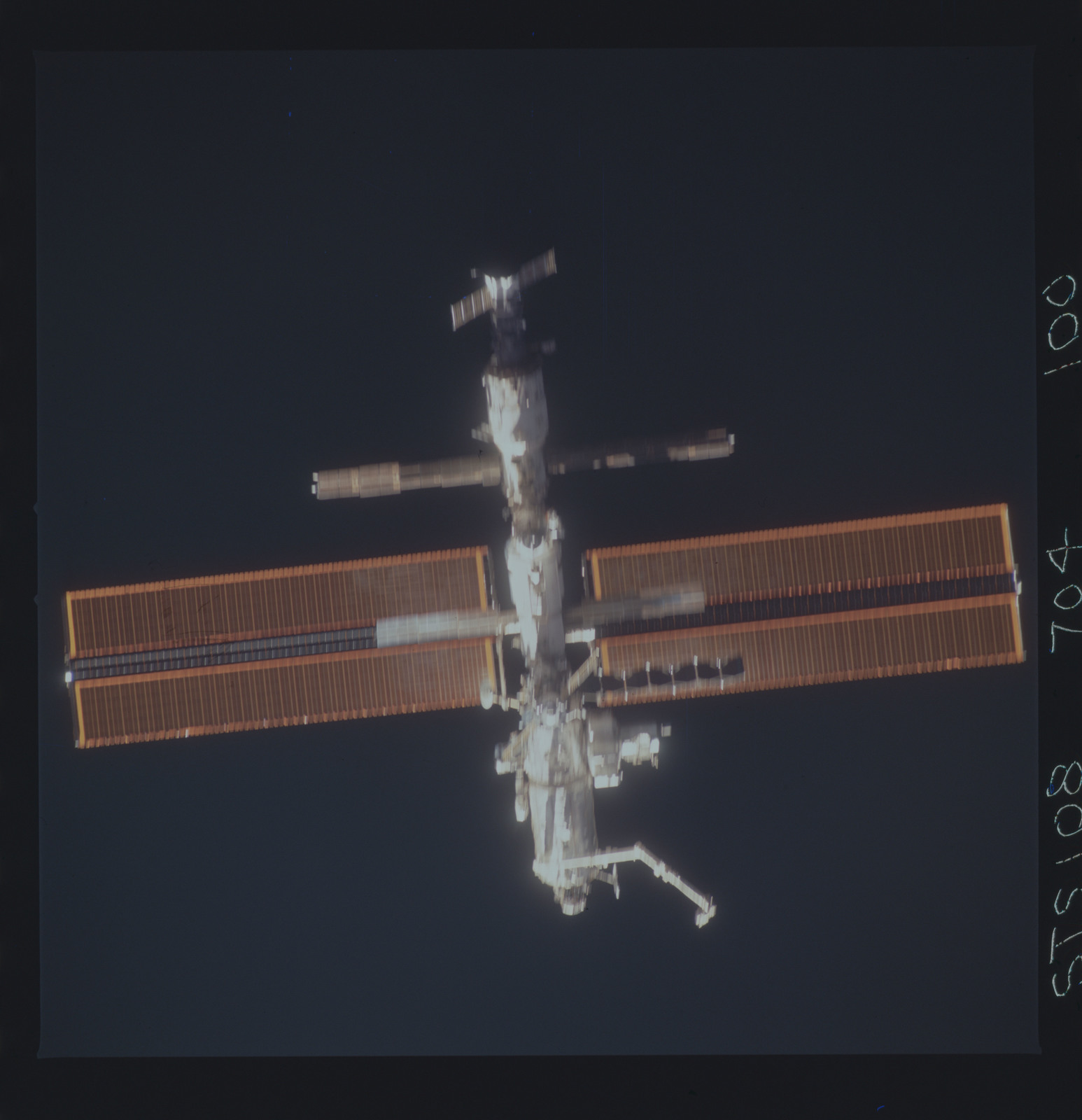 STS108-704-100 - STS-108 - The nadir side of the ISS taken during the STS-108 mission