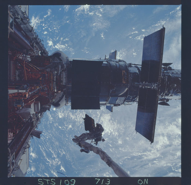 STS109-713-000N - STS-109 - EVA 4 - Installation of the ESM