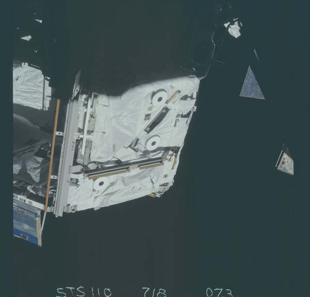 STS110-718-073 - STS-110 - View of the forward side of the S0 Truss taken during STS-110