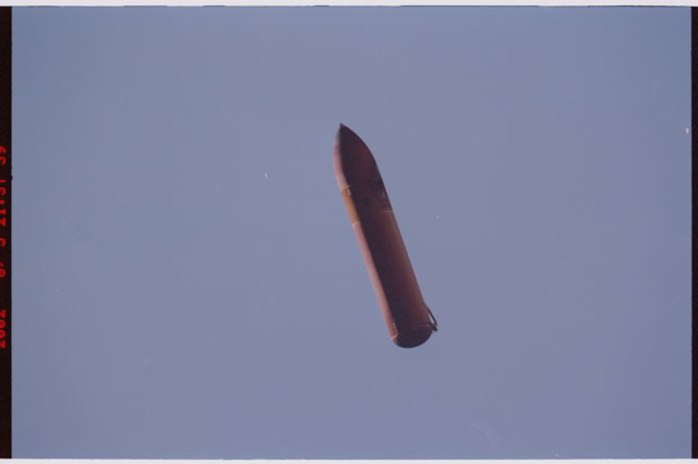 STS111-312-004 - STS-111 - External Tank (ET) separation as seen from Orbiter Endeavour following launch of STS-111.