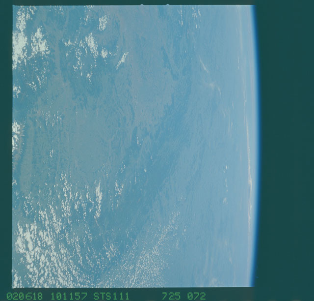 STS111-725-072 - STS-111 - Earth Observation from space taken during Mission STS-111 UF-2.