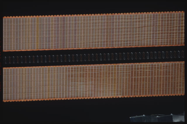 STS112-374-036 - STS-112 - Flyaround view of the starboard Solar Array Wing of the P6 Truss