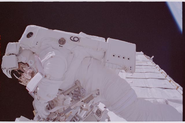 STS113-305-003 - STS-113 - Herrington during STS-113 EVA 1
