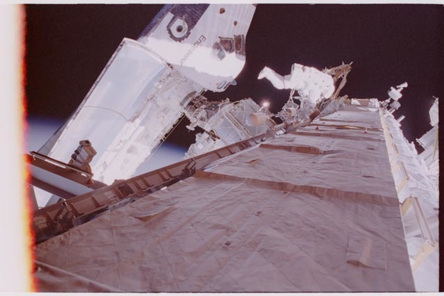 STS113-308-001 - STS-113 - Lopez-Alegria during STS-113 EVA 2
