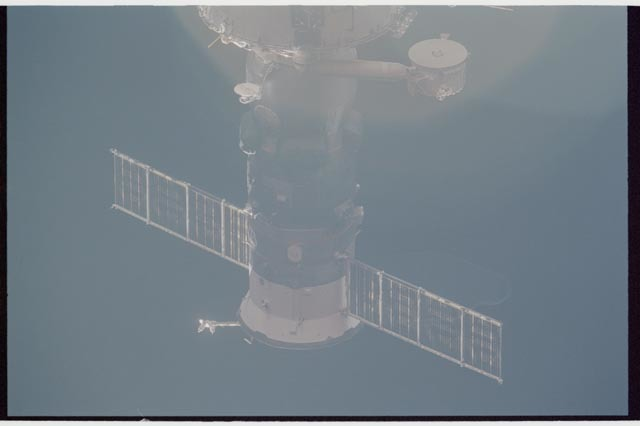 STS113-336-031 - STS-113 - Exterior views of ISS during Undocking Operations for STS-113