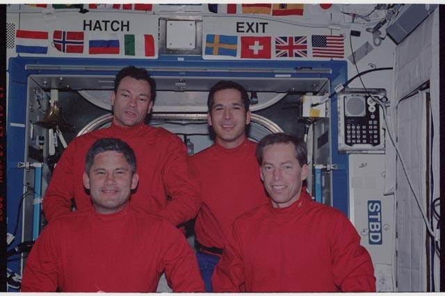 STS113-342-021 - STS-113 - STS-113 Crewmembers In-flight Crew Portrait taken in the U.S. Laboratory during STS-113 (11A)