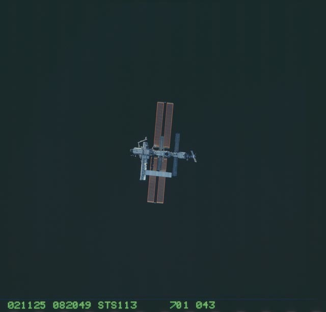 STS113-701-043 - STS-113 - Zenith views of the ISS taken during STS-113 approach for docking